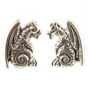 Sterling Silver Stud Earrings - Dragons